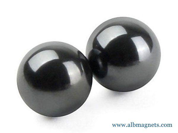 18x60mm magnetic round ball hematite singing magnet