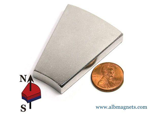 wedge neodymium magnet 60mm large magnet