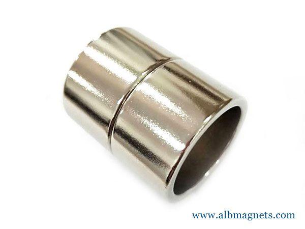 customized special shape permanent magnet neodymium tube