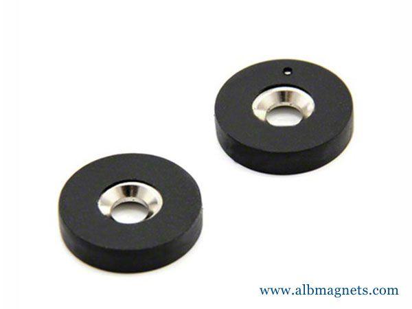 d22 d66 magnetic holder neodymium rubber coated