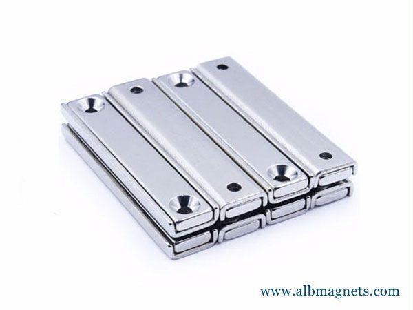 fastening n52 neodymium tube magnet holding channel magnets