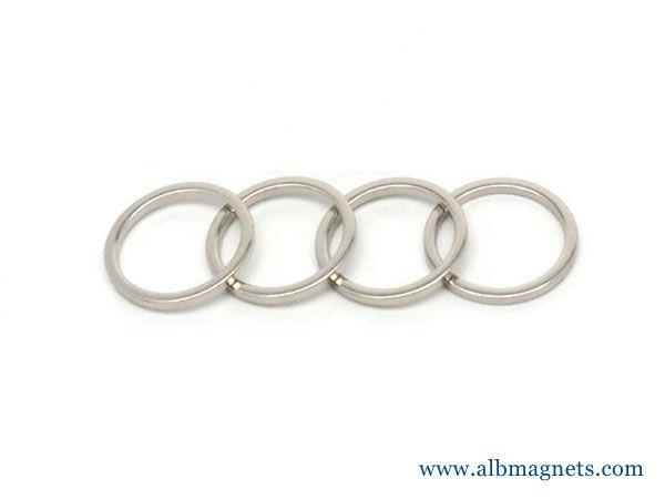 grade n52 custom size thin neodymium ring