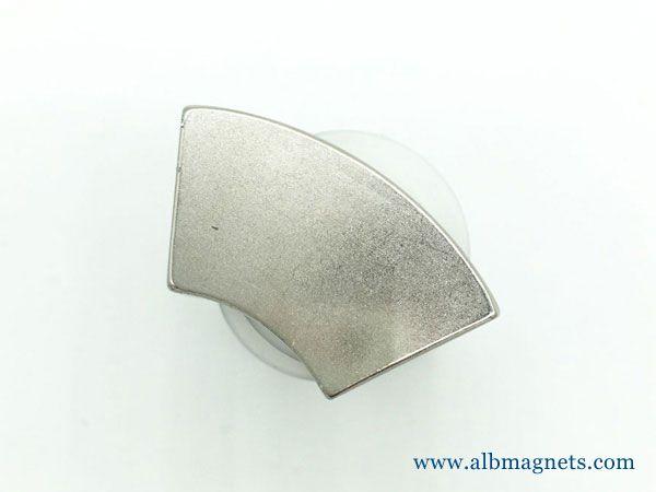 high performance n35m wedge neodymium magnet for