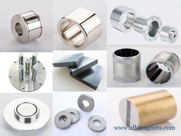 large custom neo disc magnetic blocks ring