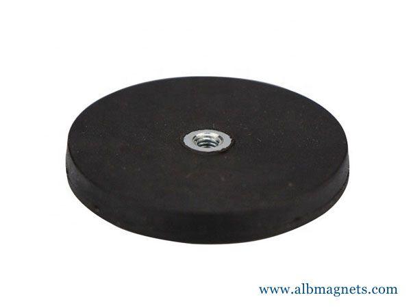 large pot rubber coating magnet d88mm mounting