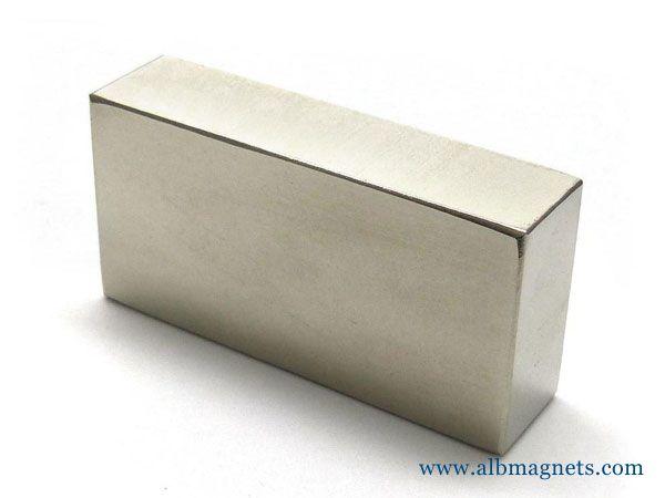 large rare earth neodymium n52 bar block
