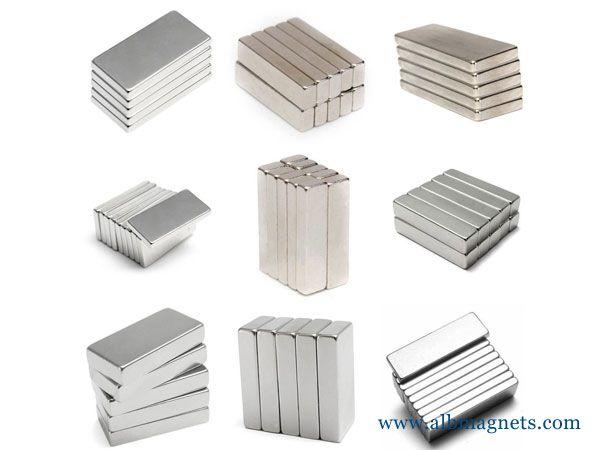 muti size strong magnet neodymium square block magnets