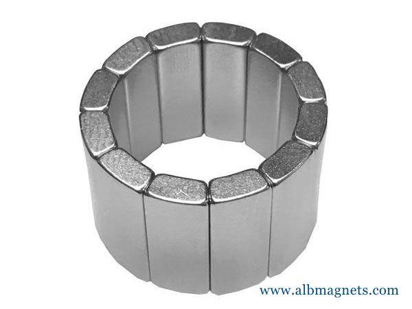 n40 rare earth neodymium arc magnet radially magnets