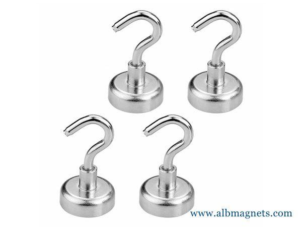 n42 neodymium pot magnetic base assembly hook magnets