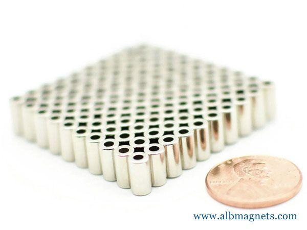 ndfeb magnet ring dia 2x2x7 magnets