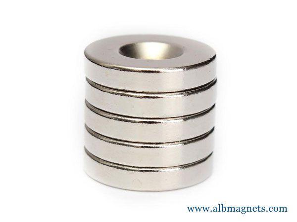 neodymium grade n35 axial ring magnet