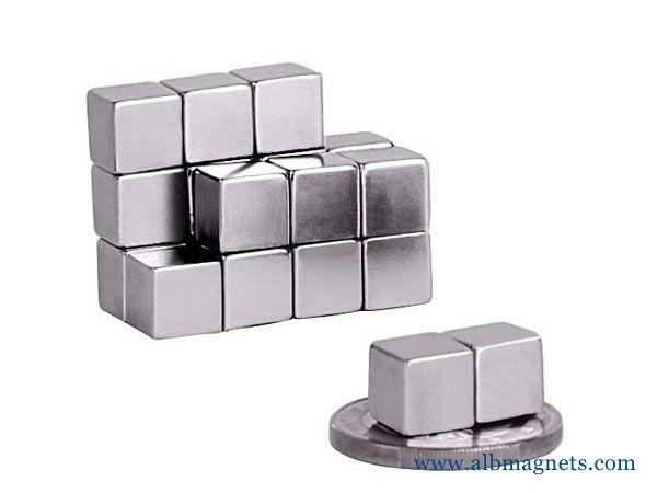 B444 Neodymium Magnets, 1/4 inch x 1/4 inch x 1/4 inch thick