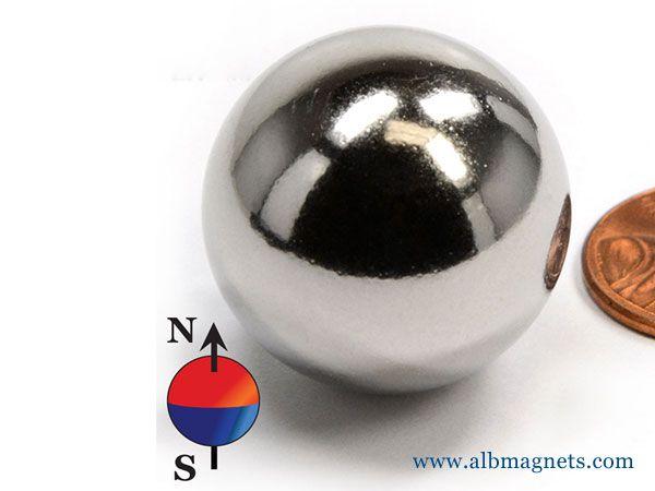 neodymium magnets sphere dia 1'' n42 ndfeb