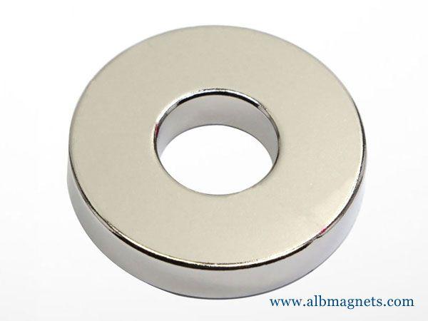 neodymium multi poles magnetised diametrically ring magnets