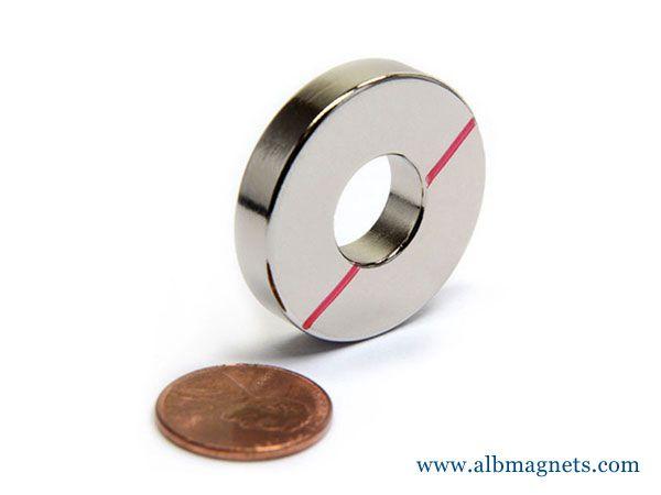 neodymium nickel coating ring magnets super strong
