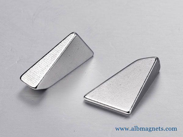special shaped electro wedge neodymium magnet motor