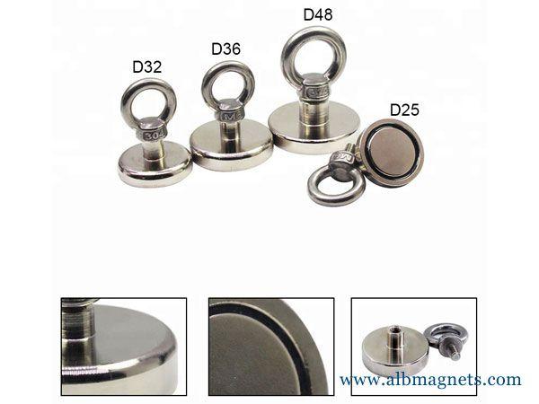 super strong powerful round neodymium fishing magnet