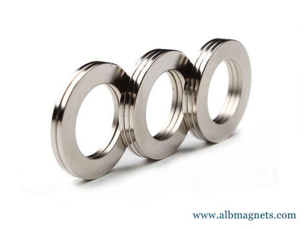wholesale custom N35 Ndfeb permanent big ring magnet