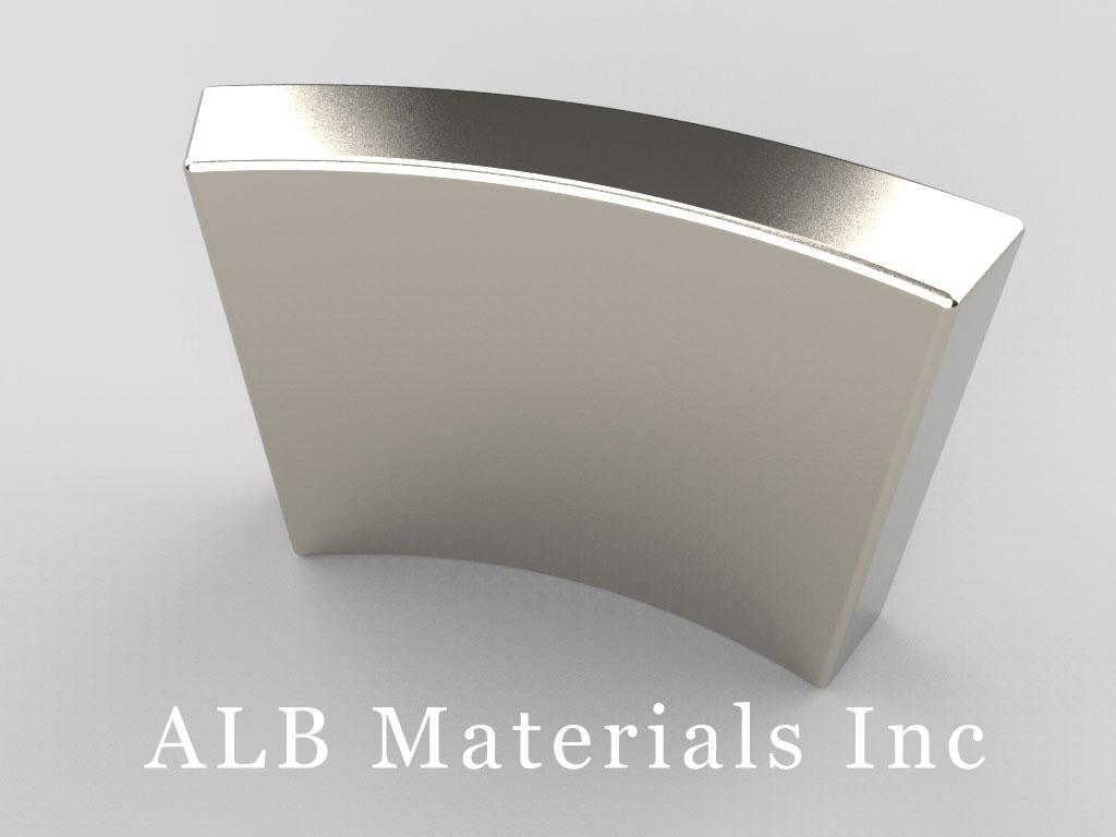 """AX2C45-S Neodymium Magnets, 1 1/8"""" o.r. x 1"""" i.r. x 3/4"""" x 45°"""
