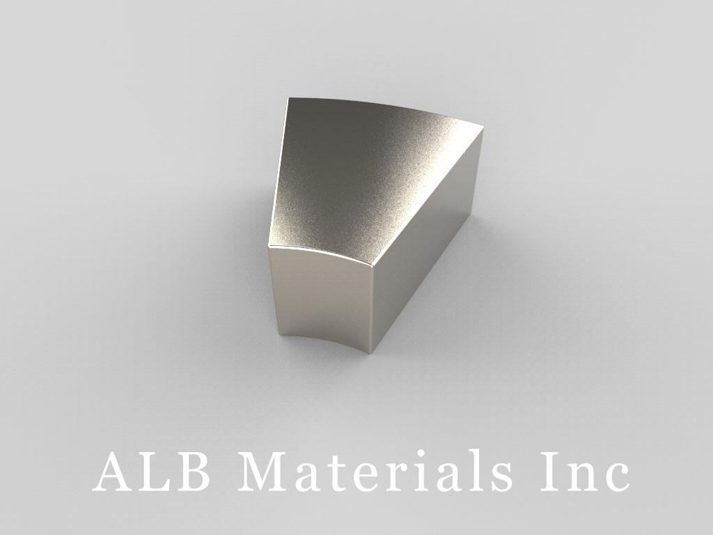 "AY0X030-S Neodymium Magnets, 2"" o.r. x 1"" i.r. x 1"" x 30°"
