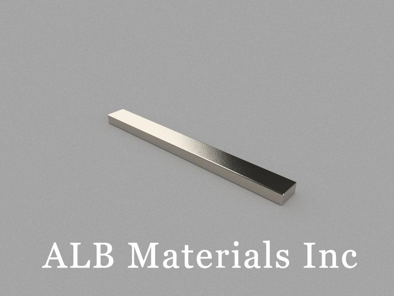 B100x10x5mm Neodymium Magnet, 100 x 10 x 5mm Block Magnet