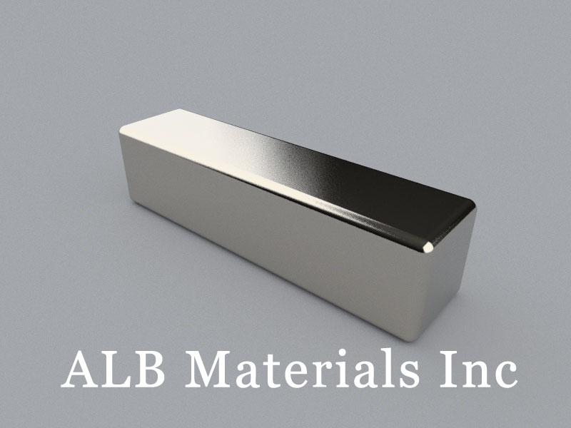 B-W25H25.4L100-N50 Neodymium Magnet, 100x25x25.4mm Block Magnet