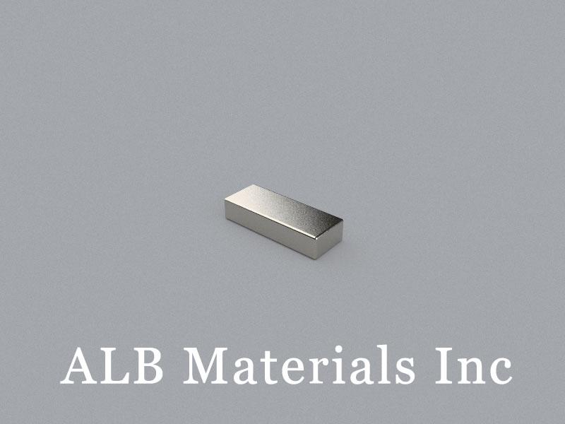 B-W4.8H2.6L12.6-N50BNi Neodymium Magnet, 12.6x4.8x2.6mm Block Magnet