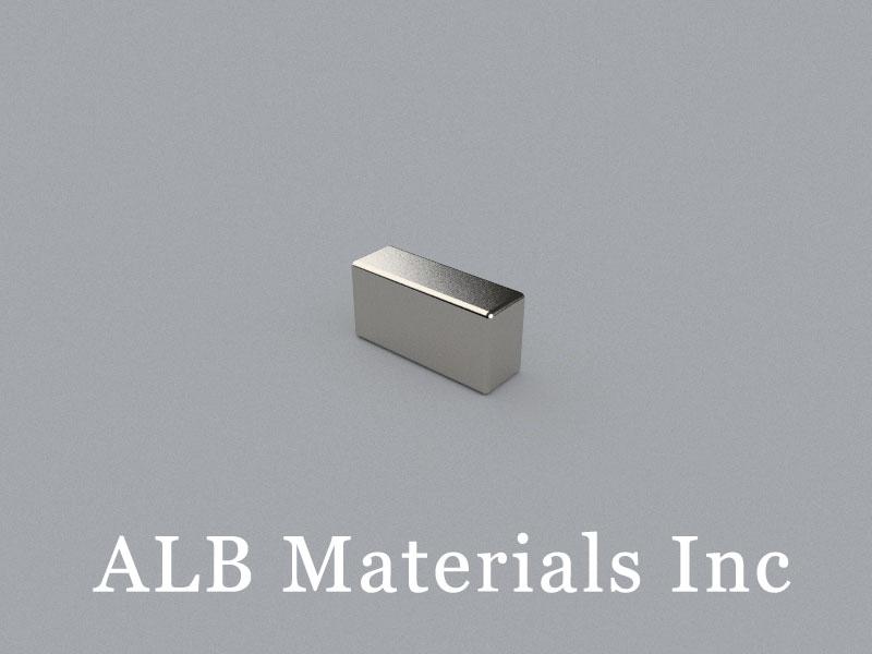 B-W4H6L12-N48ME Neodymium Magnet, 12x4x6mm Block Magnet