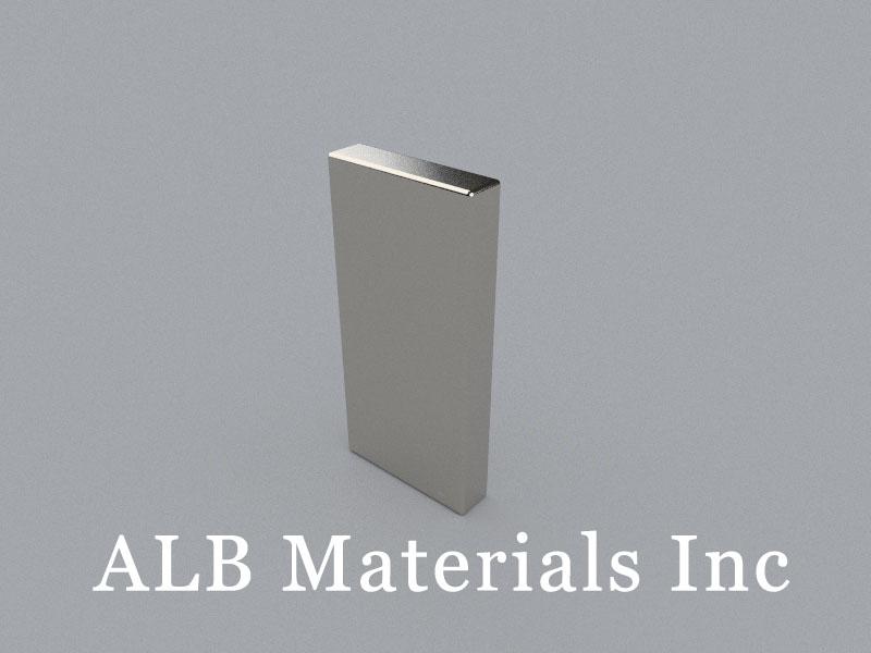 B-W6.35H50.8L24.5-N45 Neodymium Magnet, 24.5x6.35x50.8mm Block Magnet