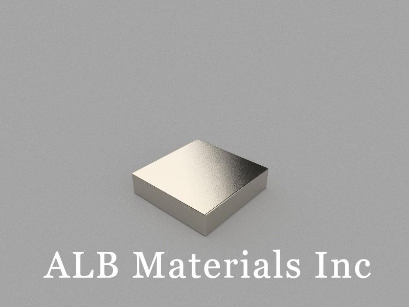 B25.4x25.4x6.35mm Neodymium Magnet, 25.4 x 25.4 x 6.35mm Block Magnet