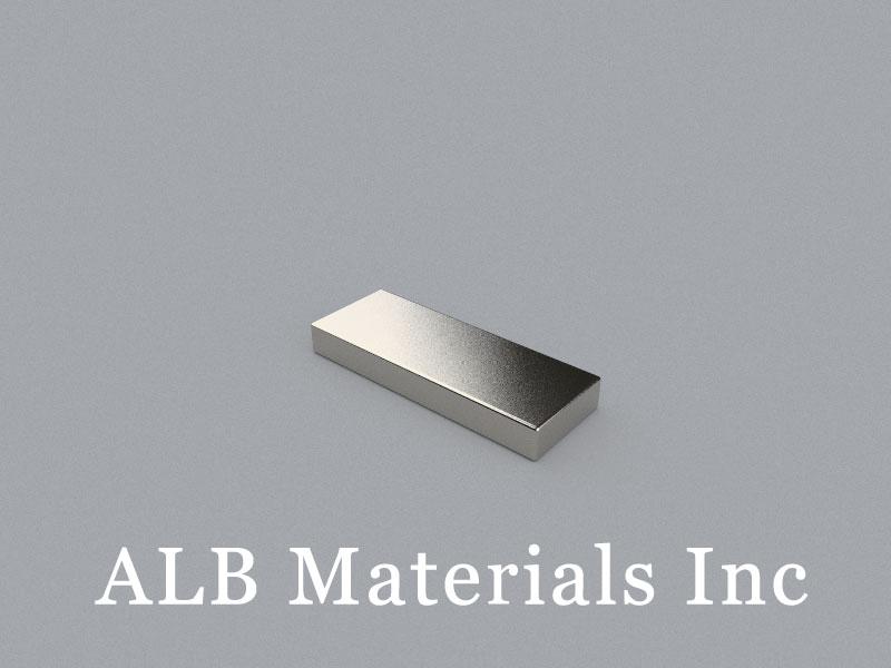 B-W9.53H3.2L25.4-N50MZn Neodymium Magnet, 25.4x9.53x3.2mm Block Magnet
