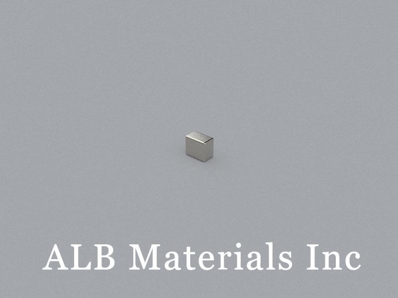 B-W2.2H3.2L3.7-N52Au Neodymium Magnet, 3.7x2.2x3.2mm Block Magnet