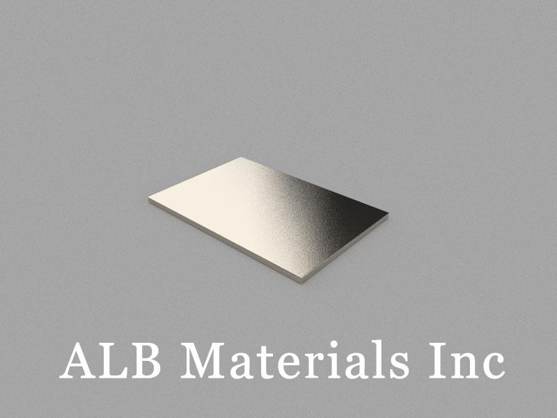 B30x20x1mm Neodymium Magnet, 30 x 20 x 1mm Block Magnet
