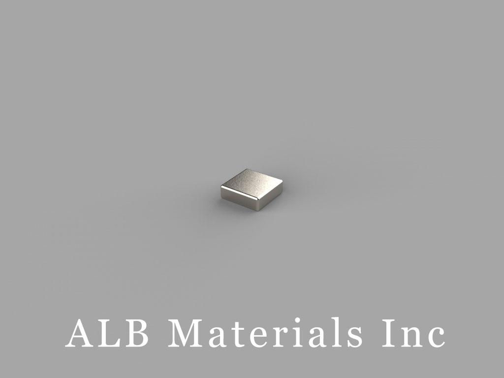 B331 Neodymium Magnets, 3/16 inch x 3/16 inch x 1/16 inch thick