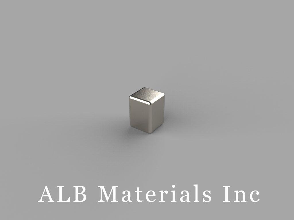 """B334 Neodymium Magnets, 3/16"""" x 3/16"""" x 1/4"""" thick"""