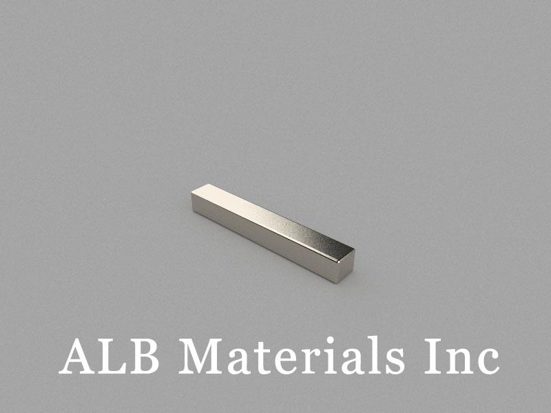 B-W5H4.5L35-N48M Neodymium Magnet, 35x5x4.5mm Block Magnet