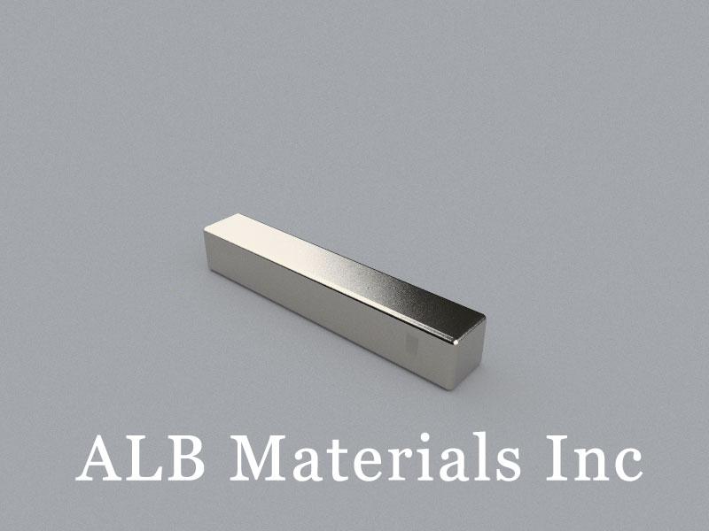 B-W6.35H6.35L38.1-N52 Neodymium Magnet, 38.1x6.35x6.35mm Block Magnet