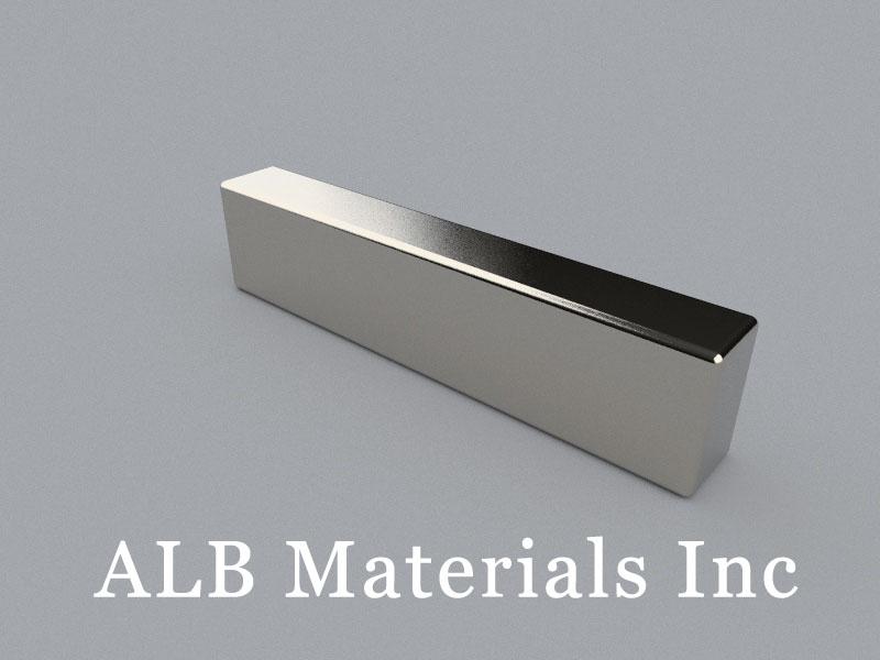 B-W5.5H9L39-N35 Neodymium Magnet, 39x5.5x9mm Block Magnet