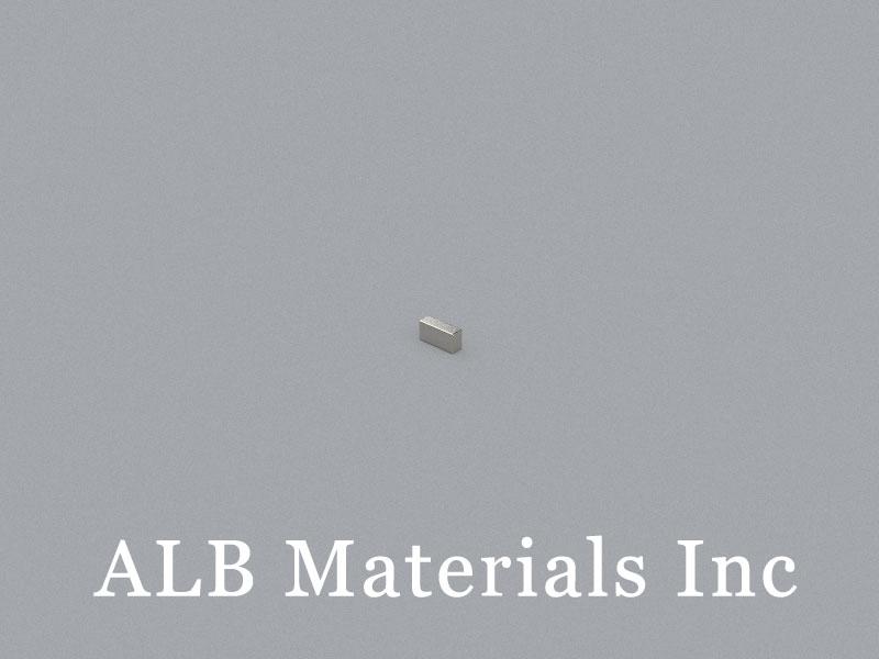 B-W1H1.5L3-N50BNi Neodymium Magnet, 3x1x1.5mm Block Magnet