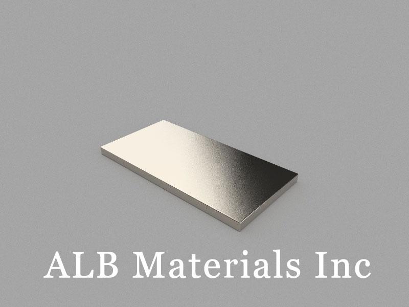 B40x20x2mm Neodymium Magnet, 40 x 20 x 2mm Block Magnet