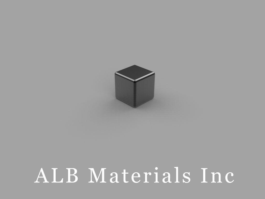 "B444B Neodymium Magnets, 1/4"" x 1/4"" x 1/4"" thick"