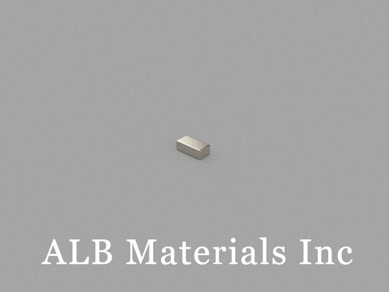B4x2x1.34mm Neodymium Magnet, 4 x 2 x 1.34mm Block Magnet