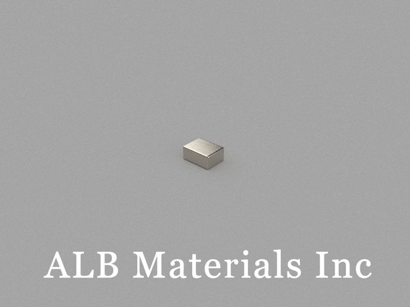 B4x3x1.8mm Neodymium Magnet, 4 x 3 x 1.8mm Block Magnet
