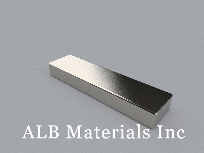 B-W12.7H6.35L50.8-N35 Neodymium Magnet, 50.8x12.7x6.35mm Block Magnet