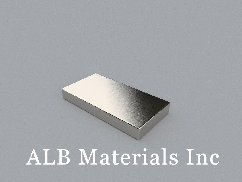 B-W25.4H6.35L50.8-N35 Neodymium Magnet, 50.8x25.4x6.35mm Block Magnet