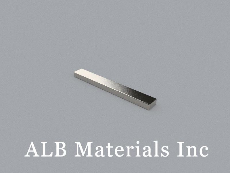 B-W6.35H3.175L50.8-N42 Neodymium Magnet, 50.8x6.35x3.175mm Block Magnet