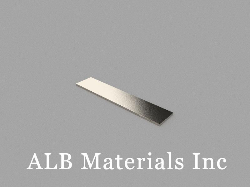 B50x10x1mm Neodymium Magnet, 50 x 10 x 1mm Block Magnet