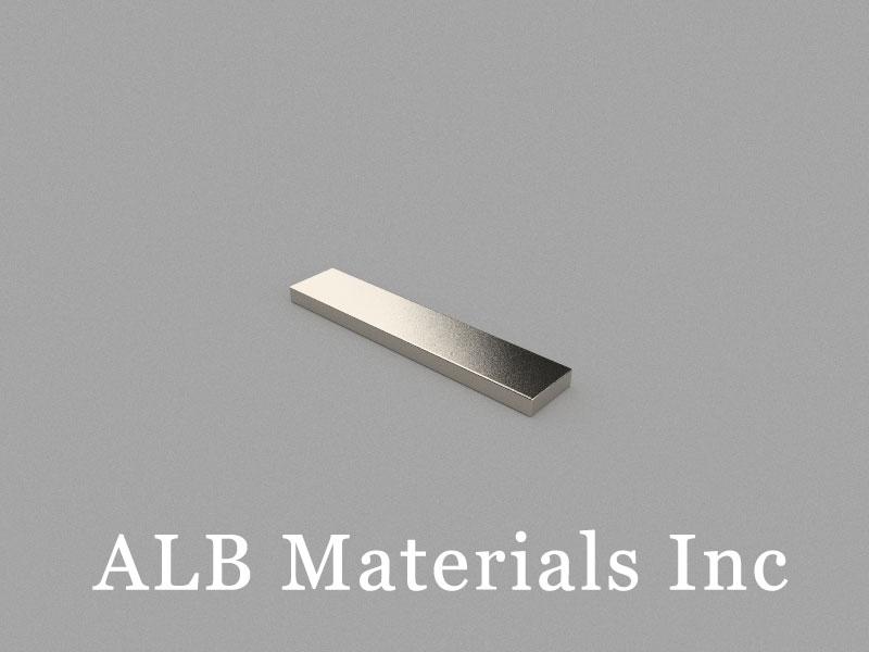 B50x10x3mm Neodymium Magnet, 50 x 10 x 3mm Block Magnet