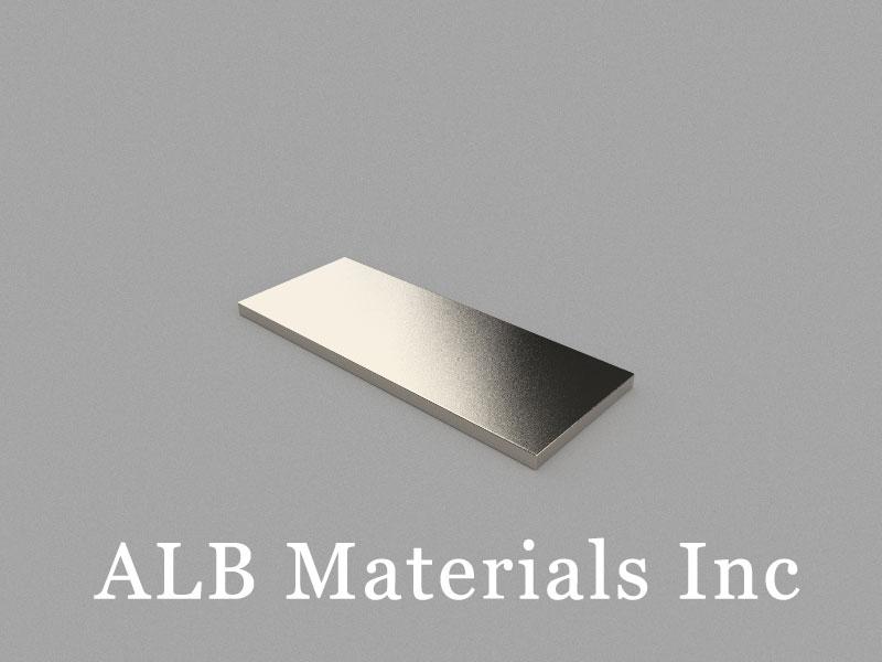 B50x20x2mm Neodymium Magnet, 50 x 20 x 2mm Block Magnet
