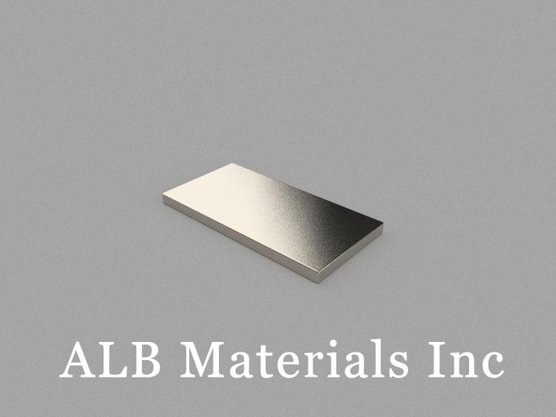 B50x25x3mm Neodymium Magnet, 50 x 25 x 3mm Block Magnet